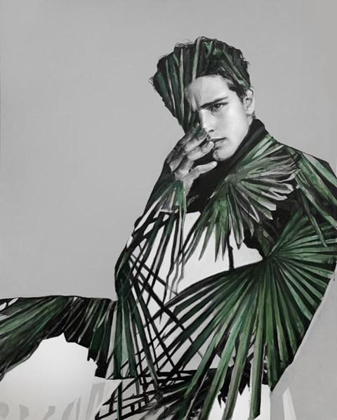 Obraz do salonu artysty Łukasz Biliński pod tytułem Boy in Palms