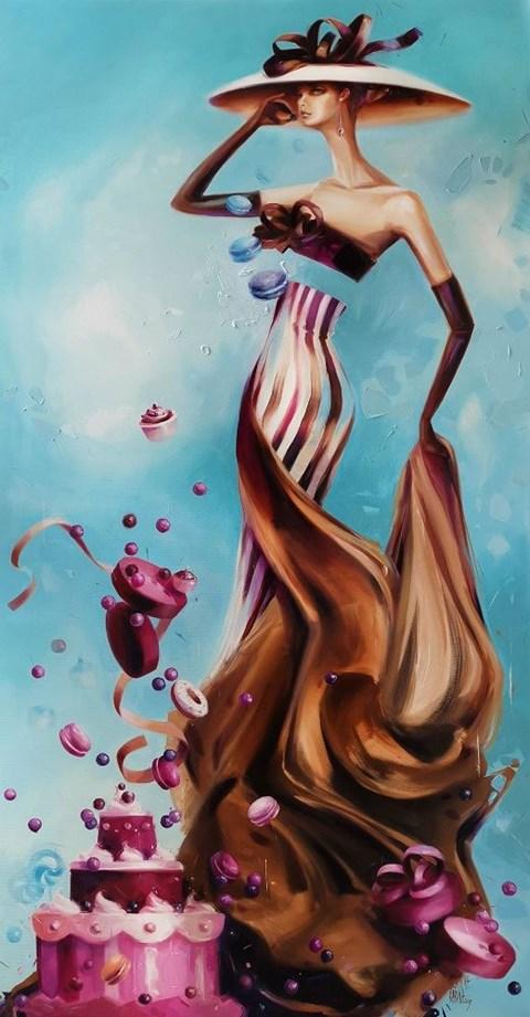 Obraz do salonu artysty Karina Jaźwińska pod tytułem Panna Abbi rozkręca wszystko