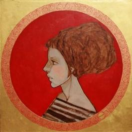 Obraz do salonu artysty Michał Warecki pod tytułem Czerwone kółko