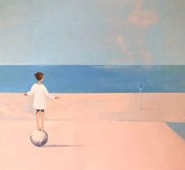 Obraz do salonu artysty Ilona Herc pod tytułem Miejsce początku. Balans