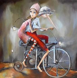 Obraz do salonu artysty Małgorzata Piątek-Grabczyńska pod tytułem Najciemniej pod latarnią