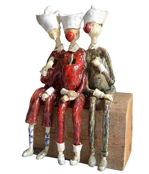 Rzeźba do salonu artysty Małgorzata Piątek-Grabczyńska pod tytułem Wielkie otwarcie