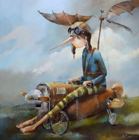 Obraz do salonu artysty Małgorzata Piątek-Grabczyńska pod tytułem Aviovehicle