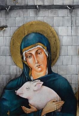 Obraz do salonu artysty Borys Fiodorowicz pod tytułem Madonna od św. Franciszka