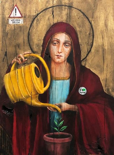 Obraz do salonu artysty Borys Fiodorowicz pod tytułem Matka Boska Bialowieska