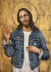 Obraz do salonu artysty Borys Fiodorowicz pod tytułem Jezus Chrystus. Superstar