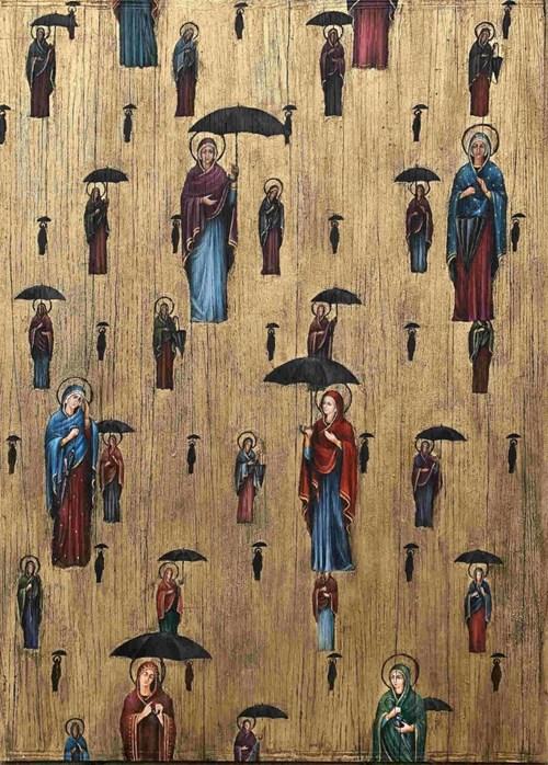 Obraz do salonu artysty Borys Fiodorowicz pod tytułem St. Magritta Golconda.pl