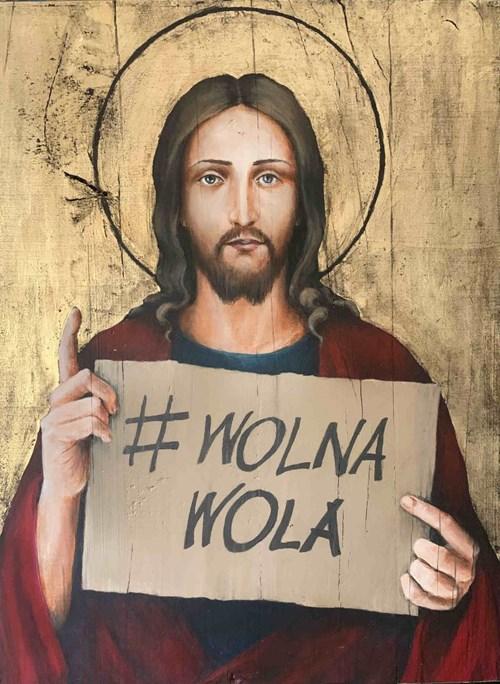 Obraz do salonu artysty Borys Fiodorowicz pod tytułem Jezus z Woli