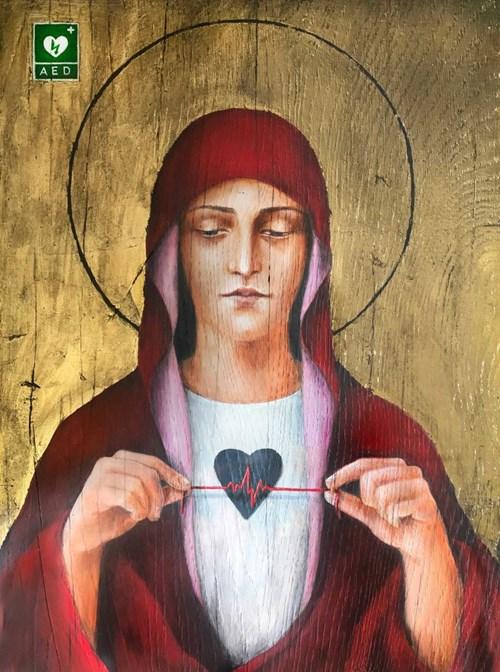 Obraz do salonu artysty Borys Fiodorowicz pod tytułem Cienka czerwona linia
