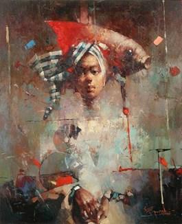 Obraz do salonu artysty Wacław Sporski pod tytułem Pod znakiem ryby