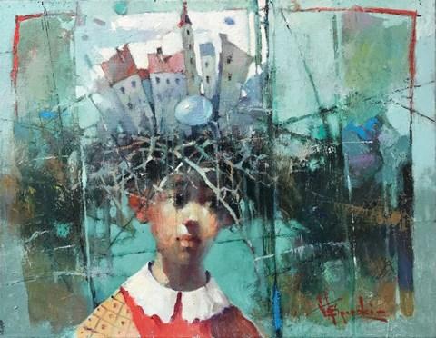 Obraz do salonu artysty Wacław Sporski pod tytułem Początek