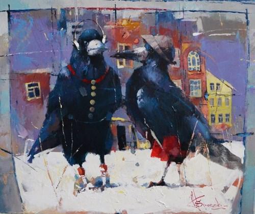 Obraz do salonu artysty Wacław Sporski pod tytułem Rozmowa