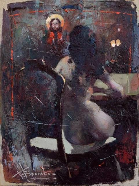 Obraz do salonu artysty Wacław Sporski pod tytułem Bez tytułu