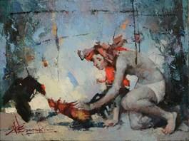 Obraz do salonu artysty Wacław Sporski pod tytułem Pojedynek