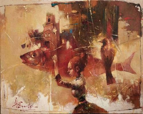 Obraz do salonu artysty Wacław Sporski pod tytułem Koniec ery ryb
