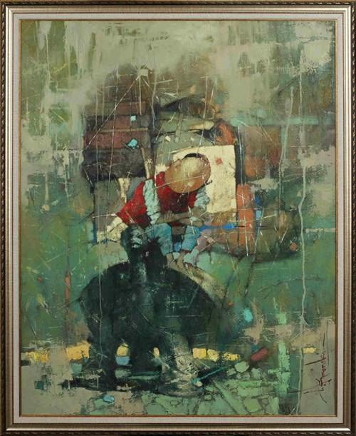 Obraz do salonu artysty Wacław Sporski pod tytułem Poszukiwanie sensu