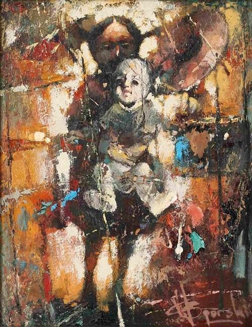 Obraz do salonu artysty Wacław Sporski pod tytułem Dziewczyna z lalką