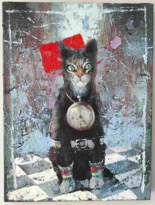 Obraz do salonu artysty Wacław Sporski pod tytułem Strażnik czasu
