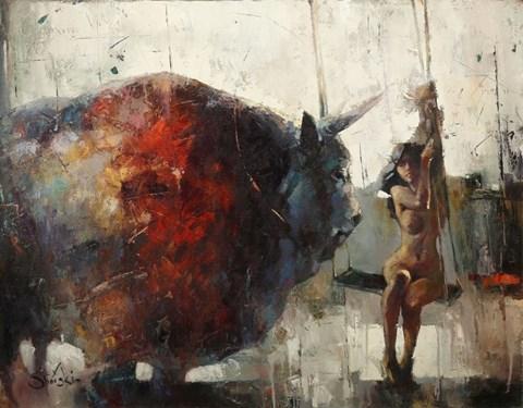 Obraz do salonu artysty Alex Sporski pod tytułem Porwanie Europy