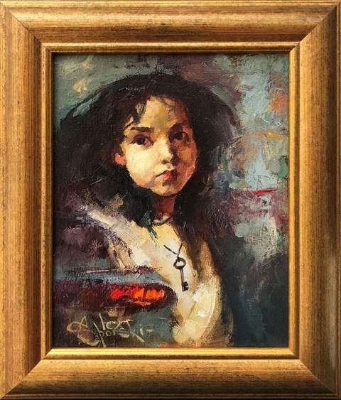 Obraz do salonu artysty Alex Sporski pod tytułem Gospodyni