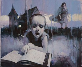 Obraz do salonu artysty Alex Sporski pod tytułem Bajka na dobranoc