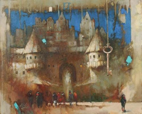 Obraz do salonu artysty Alex Sporski pod tytułem Klucz do miasta