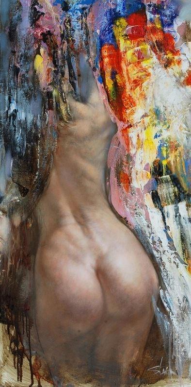 Obraz do salonu artysty Stanisław Sugintas pod tytułem Narodziny Wenus