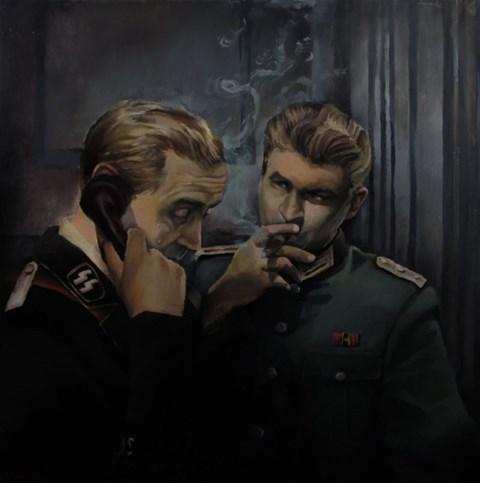Obraz do salonu artysty Adam Oroń pod tytułem Radzę Ci, Hermann…..