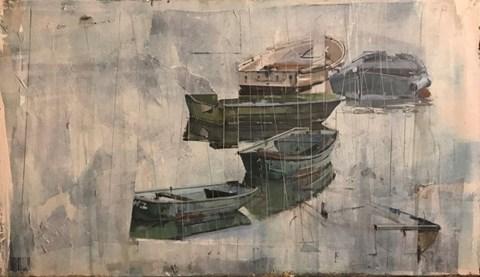 Living room painting by Agata Krutul titled Rain