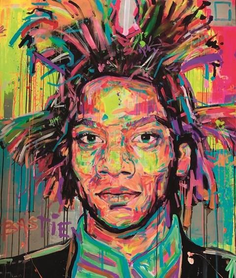 Obraz do salonu artysty Bastien Ducourtioux pod tytułem Basquiat