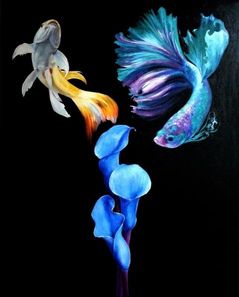 Obraz do salonu artysty Dominik Balcerzak pod tytułem Podróż senna