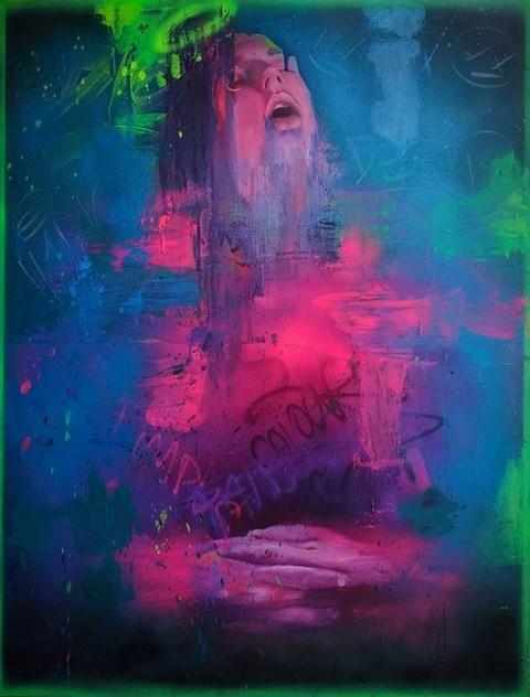 Obraz do salonu artysty Campio pod tytułem Śpiący ekscentryk