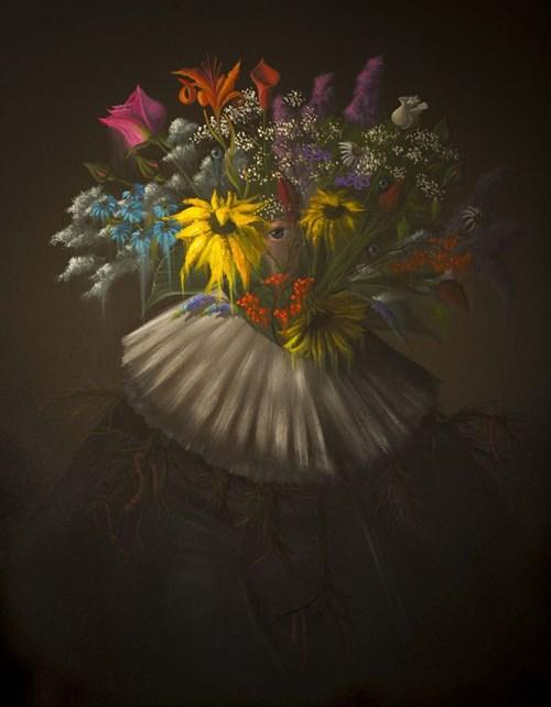 Obraz do salonu artysty Campio pod tytułem Królewski Ogrodnik