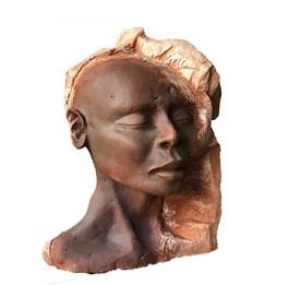 Rzeźba do salonu artysty Jacek Opała pod tytułem Głowa murzynki
