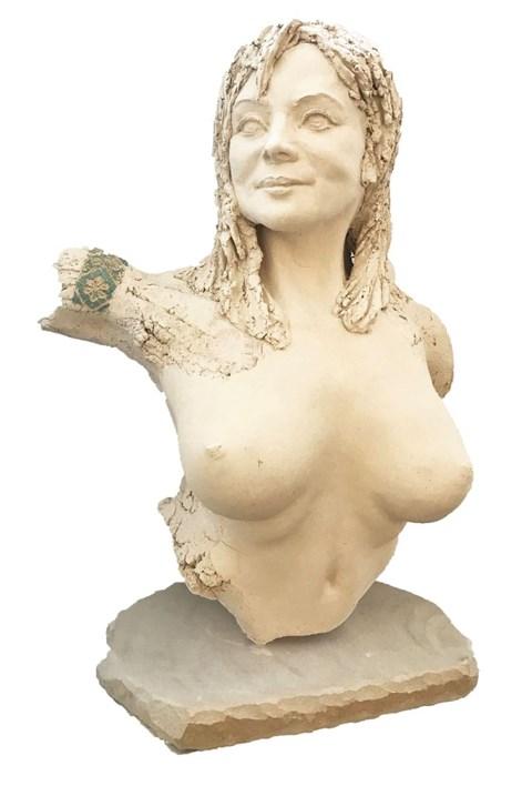 Rzeźba do salonu artysty Jacek Opała pod tytułem Portret kobiety