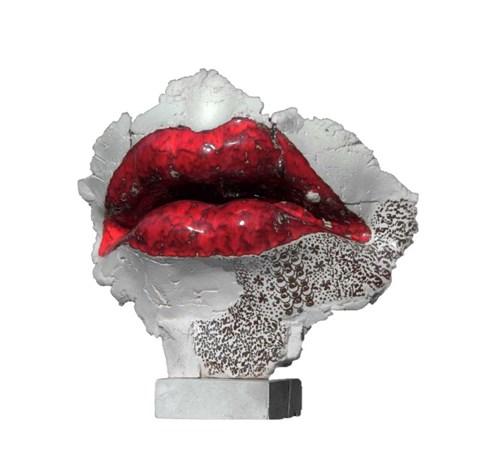 Rzeźba do salonu artysty Jacek Opała pod tytułem Usta