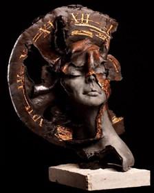 Rzeźba do salonu artysty Jacek Opała pod tytułem Wehikuł czasu