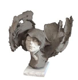 Rzeźba do salonu artysty Jacek Opała pod tytułem Delikatne podmuchy