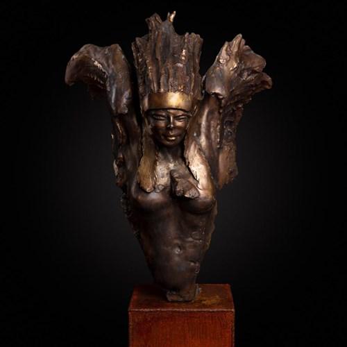 Rzeźba do salonu artysty Jacek Opała pod tytułem Odlotowa Squaw