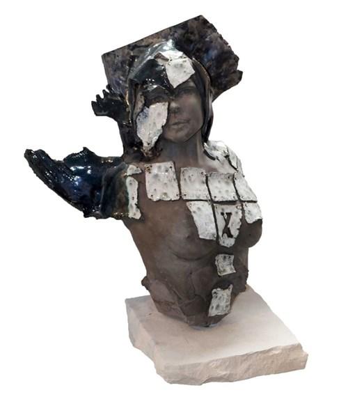 Rzeźba do salonu artysty Jacek Opała pod tytułem Kobiecy tors
