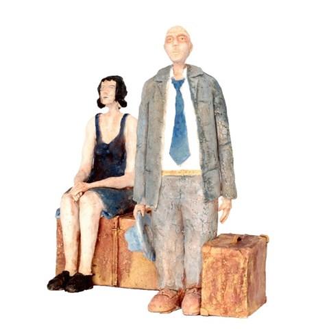 Rzeźba do salonu artysty Arek Szwed pod tytułem Pożegnanie