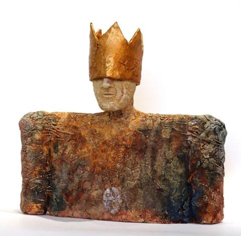 Rzeźba do salonu artysty Arek Szwed pod tytułem Król