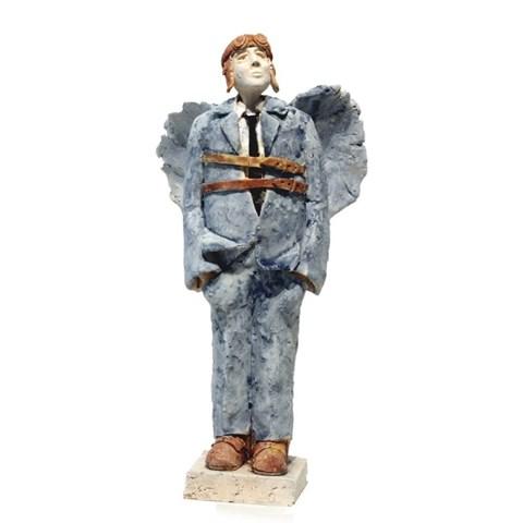 Rzeźba do salonu artysty Arek Szwed pod tytułem Ikar Niebieski