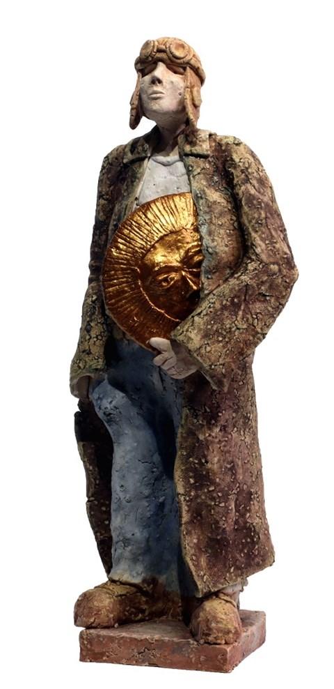 Rzeźba do salonu artysty Arek Szwed pod tytułem Zachód Słońca