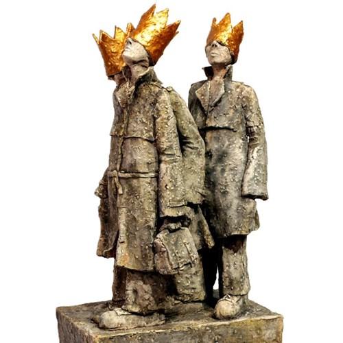 Rzeźba do salonu artysty Arek Szwed pod tytułem Czy tym razem dojdą