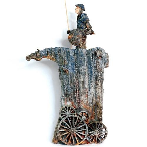 Rzeźba do salonu artysty Arek Szwed pod tytułem Don Kichot 2.01