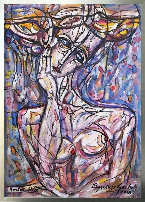 Obraz do salonu artysty Eugeniusz Gerlach pod tytułem Portret kobiety