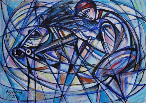 Obraz do salonu artysty Eugeniusz Gerlach pod tytułem Dżokej