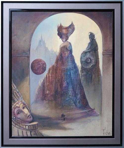 Obraz do salonu artysty Tomasz Sętowski pod tytułem Magiczna kula