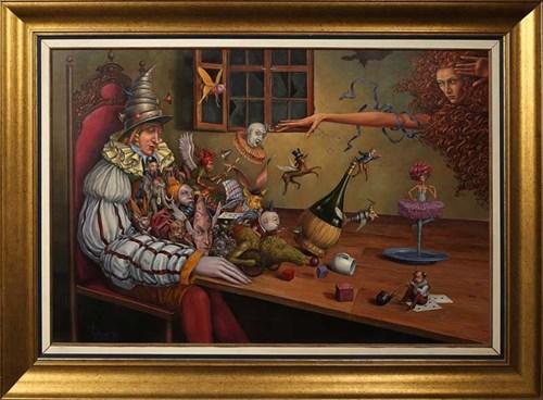 Obraz do salonu artysty Tomasz Sętowski pod tytułem Śpiący rycerz